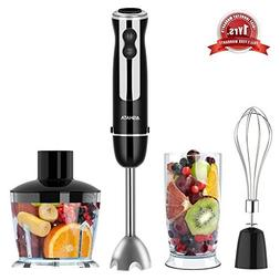 Hand Blender, 4 in 1 Immersion Blender with Food Processor,