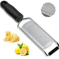 Handheld Cheese Grater& Lemon Zester, Ideal Shredder for Par