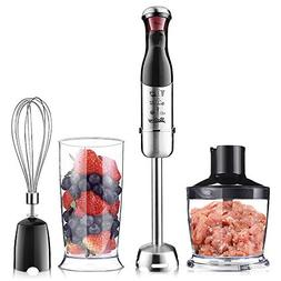 Betitay Immersion Hand Blender, 4-in-1 Food Blender and Proc