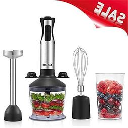 Medelon Immersion Blender,2018 NEW Design Powerful 4-in-1 Ha