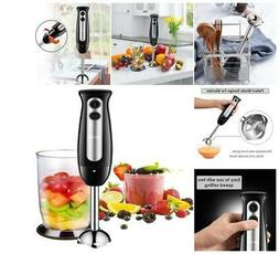 Immersion Hand Blender Food Processor Stick Mixer Stainless