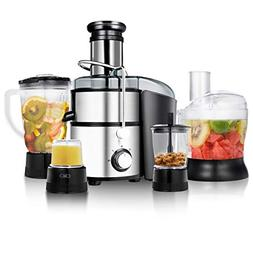 Goplus Juice Extractor 5-in-1 for Fruit, Vegetable and Meat