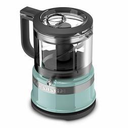 KitchenAid KFC3516AQ 3.5 Cup Mini Food Processor, Aqua Sky B