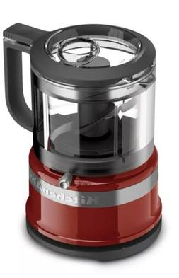KitchenAid KFC3516ER 3.5 Cup Food Chopper, Empire Red Mini F