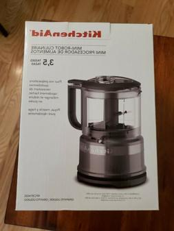 KitchenAid KFC3516QG Graphite 3.5 Cup Mini Food Processor BP