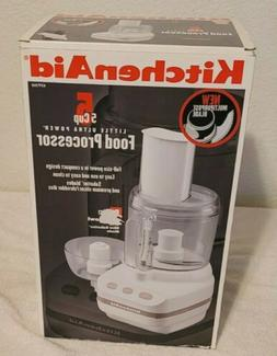 KitchenAid KFP350 5-Cup Little Ultra Power Food Processor Wh