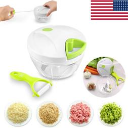 Kitchen Slicer Manual Food Processor Bowl Choppers Mixer Dic