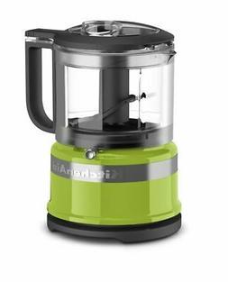 KitchenAid KFC3516GA 3.5 Cup Mini Food Processor, Green Appl
