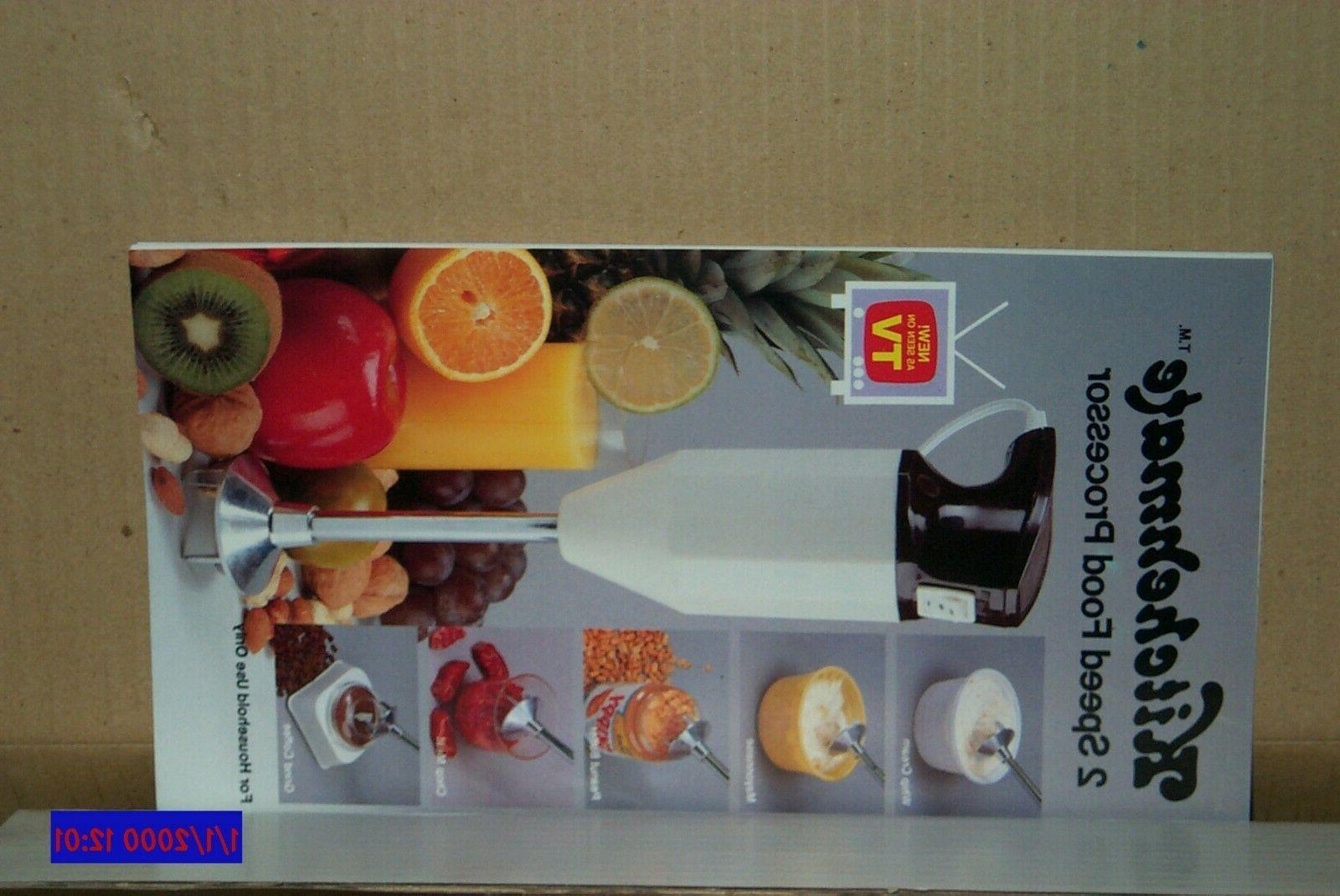 KITCHENMATE 2 SPEED FOOD PROCESSOR Stick - As TV -