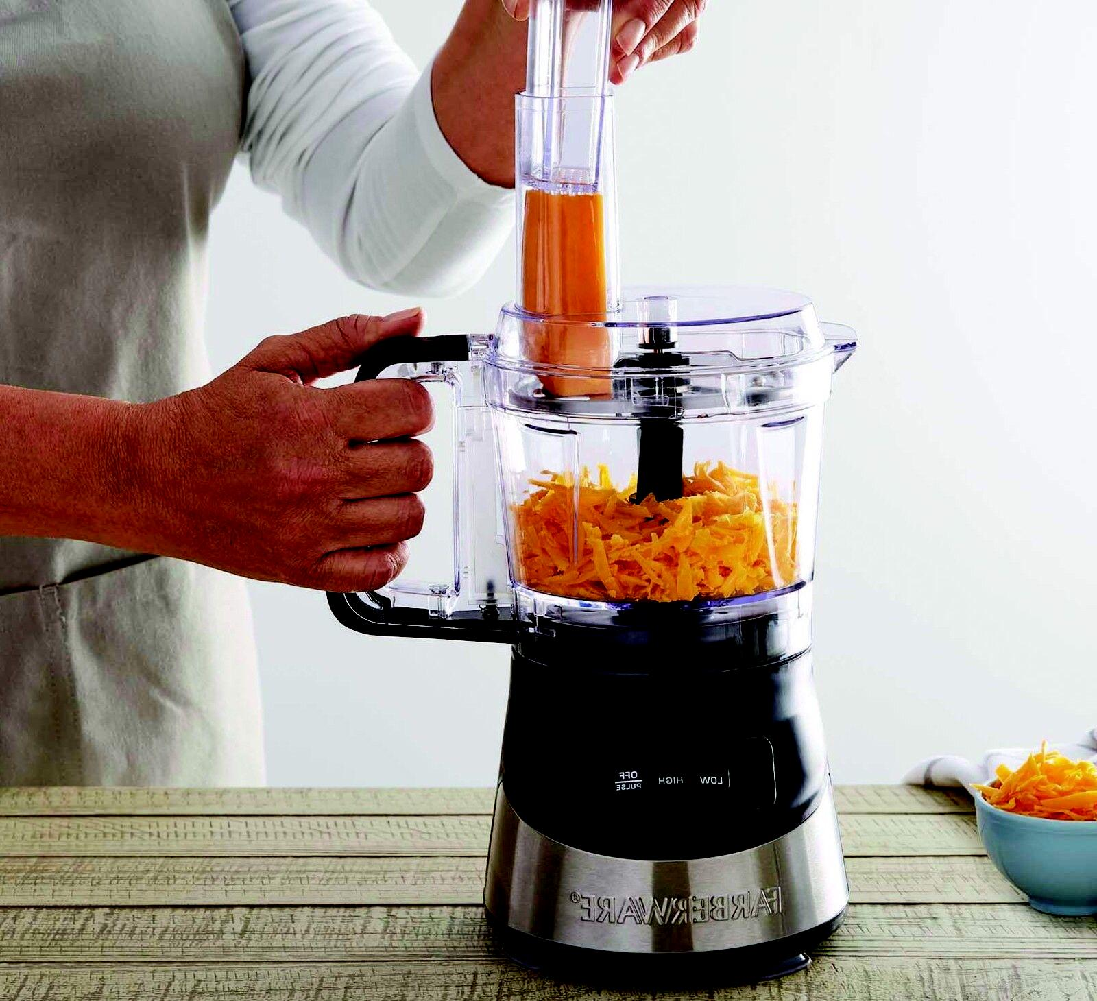 Farberware 4-Cup Food Processor with Stainless steel deco