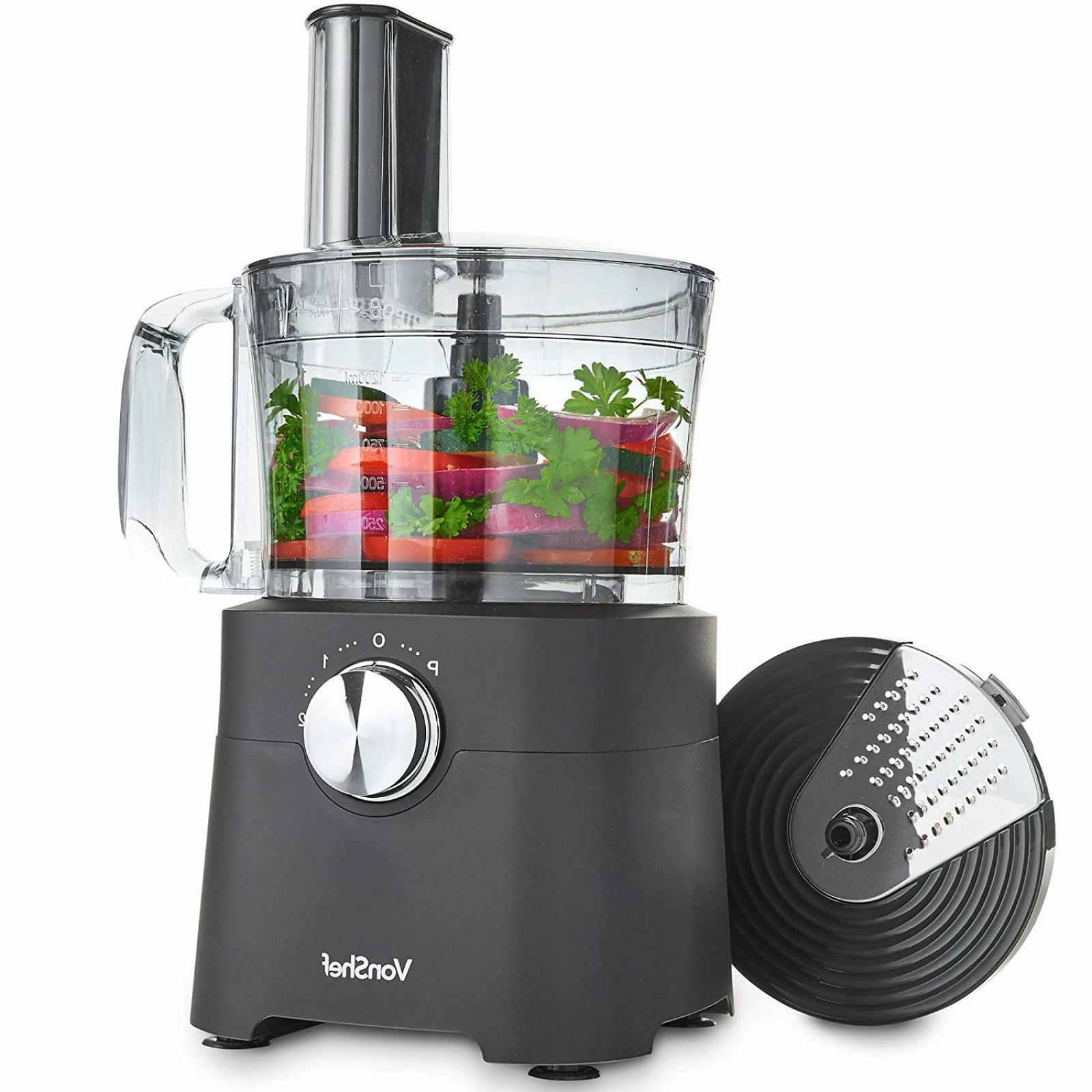 8 cup food processor blender chopper multi
