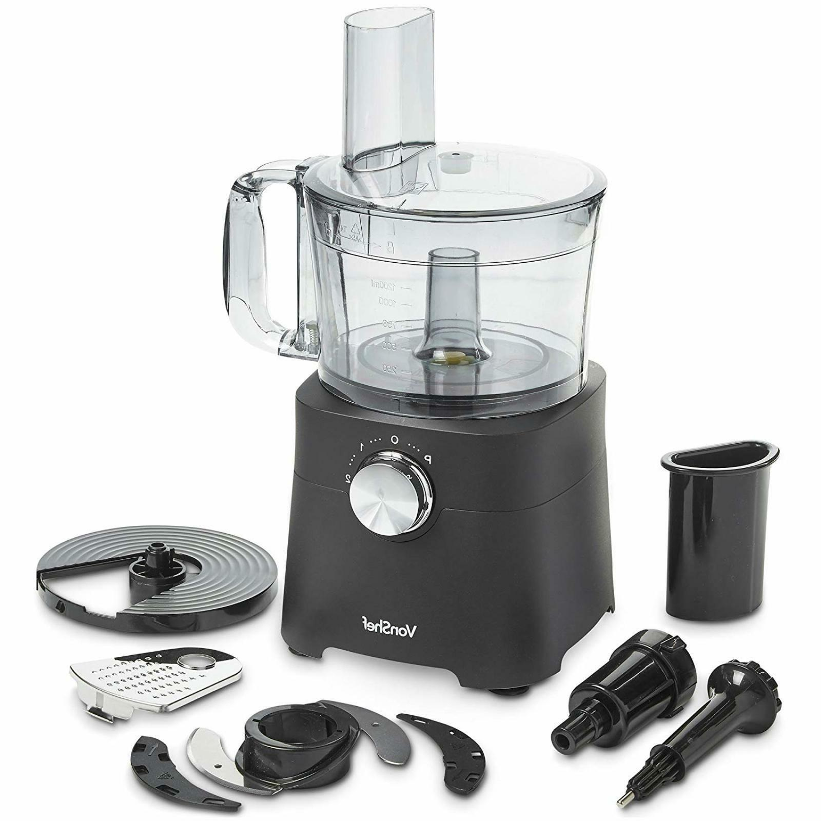 VonShef 8 Food Processor Mixer