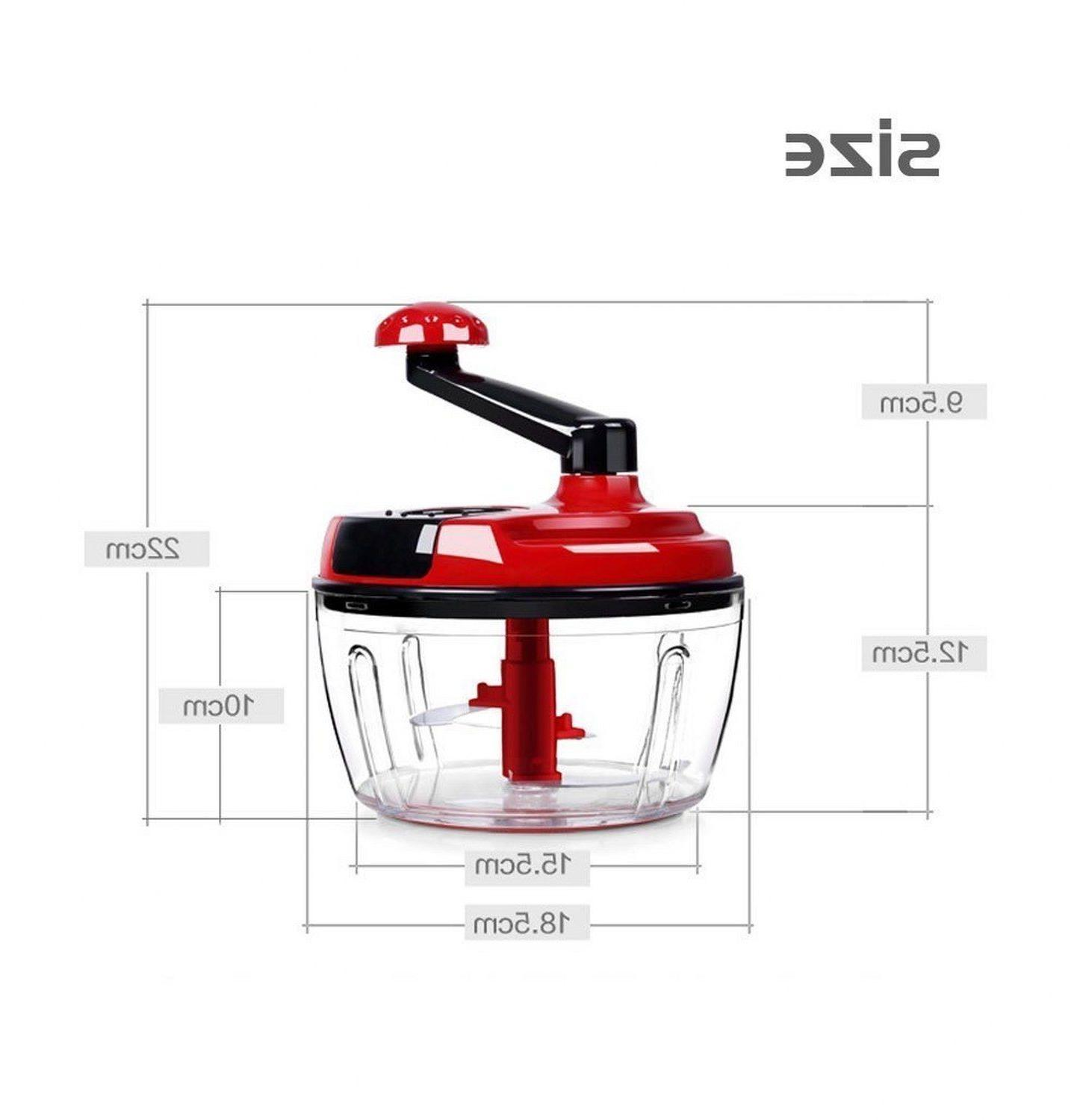 Momugs Cup Red Food Manual Powered Large Mincer