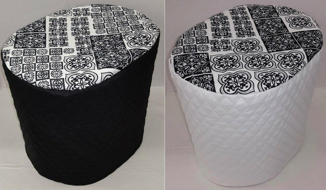 black and white mosaic damask food processor