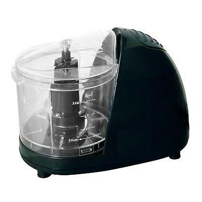black compact food chopper small electric food