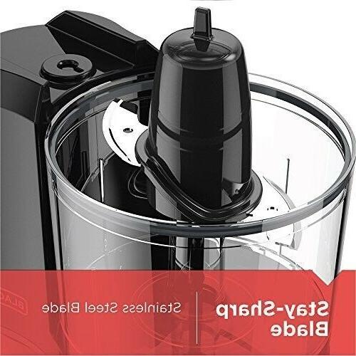 BLACK+DECKER 1.5-Cup Food Chopper, Improved Black, HC150B