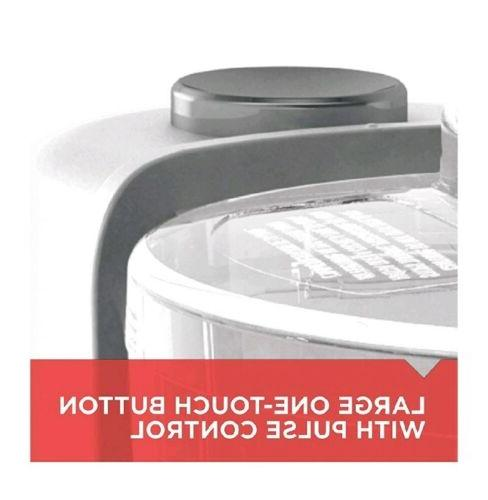 Black One Touch Electric Chopper White.