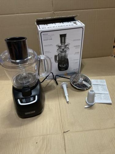 black decker 8 cup food processor black