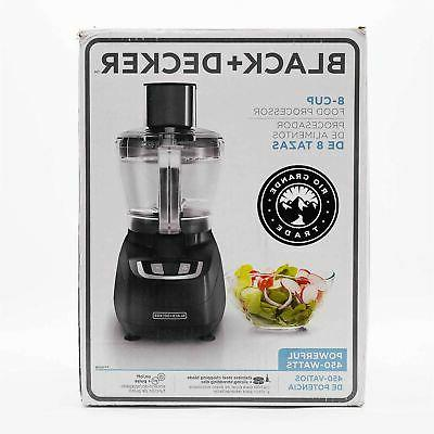 Black & Decker FP1600B 8-Cup Food Processor, Black