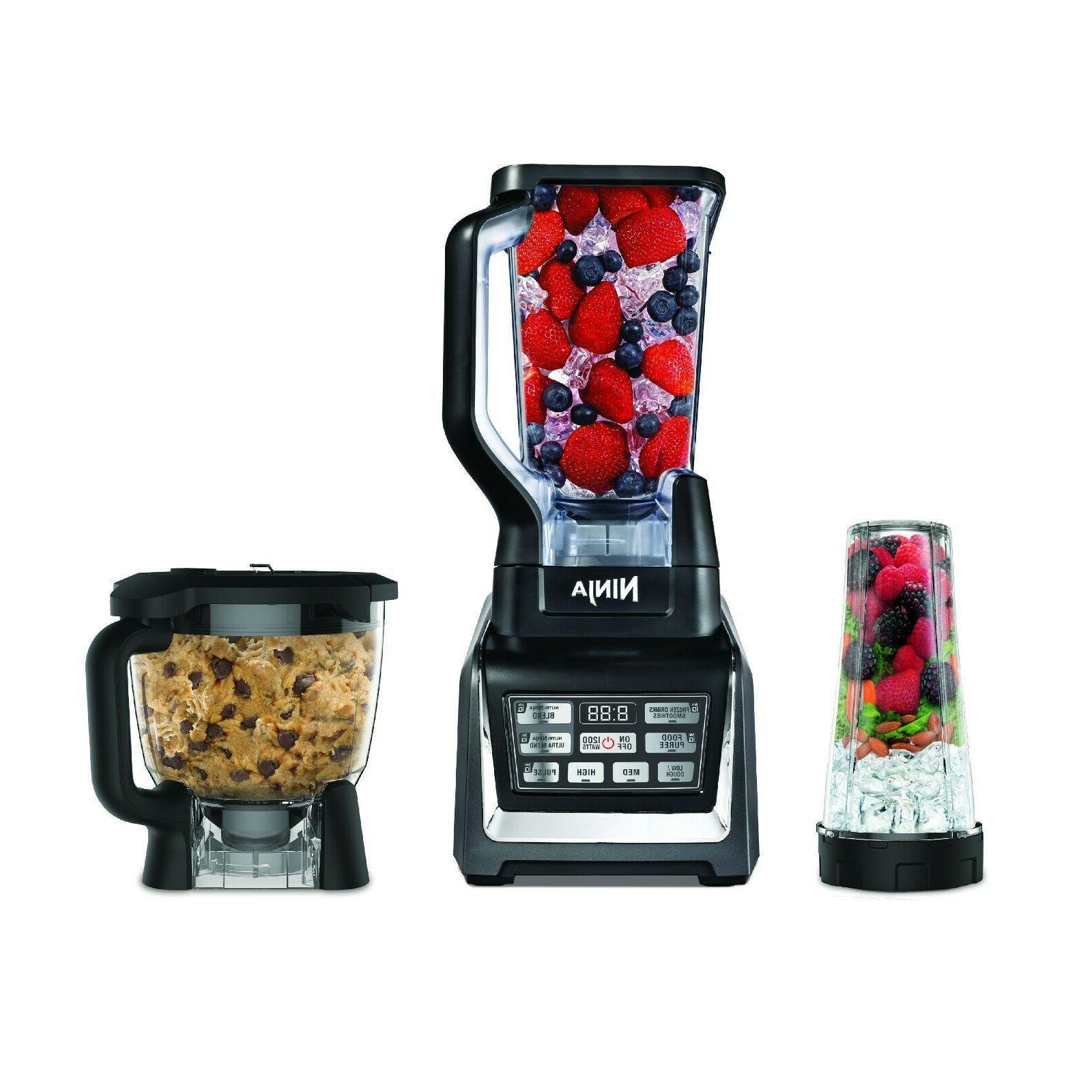Blender 72 oz Ninja Auto-iQ 3 piece Kitchen System food
