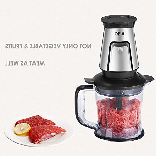 Blender, 3-in-1 Smoothie Blender/Food Chopper/Electric Multifunctional Serve with Making Stainless Steel