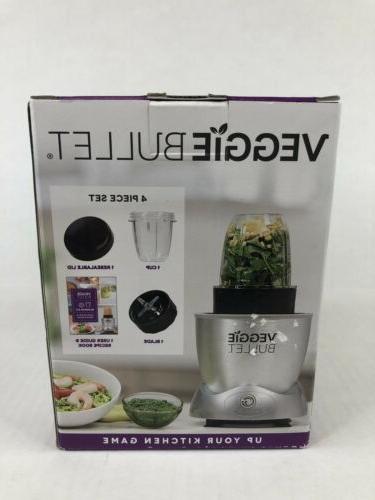 Veggie Bullet Kit 4 Extra Cup Lid Ribbon