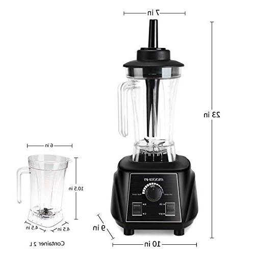 Professional Blender, UFire-MOOSHA 2L Commercial Blender and Performance for Ice, Fruit, Vegetable