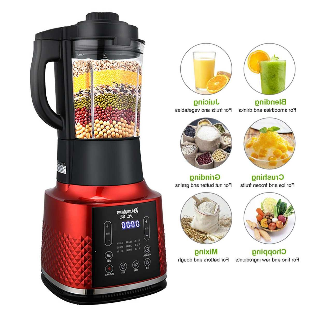 BPA FREE Multi-functional Digital Touchscreen Ultra-fine <font><b>Processor</b></font> with Dry Grinding <font><b>Cup</b></font>
