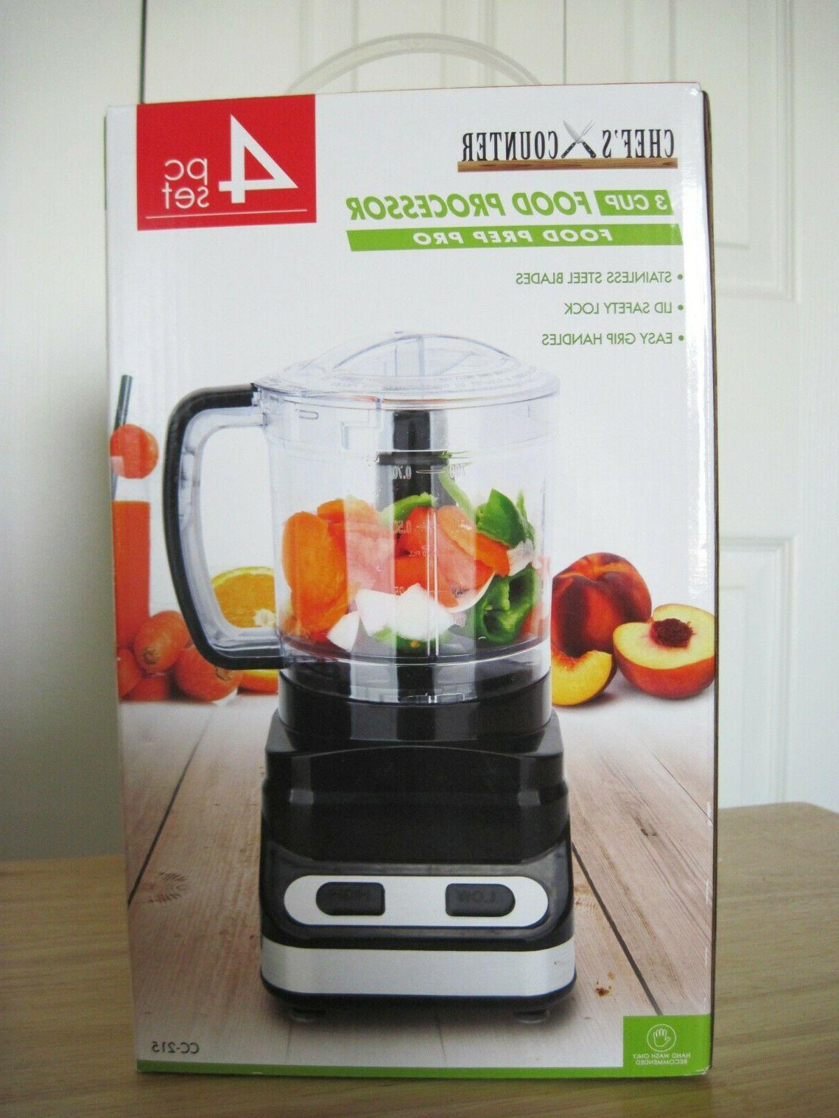 chef s counter 3 cup food processor