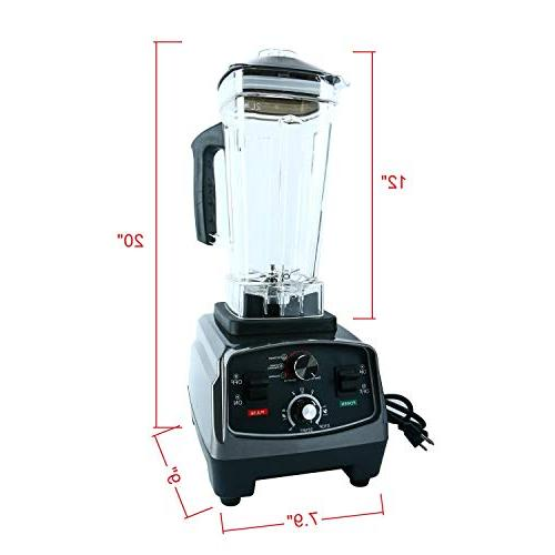 Homend 1400 Watt Commercial Blenders Drinks Smoothies with 67oz Pitcher,Commercial Heavy Food Soups,Nuts Batter