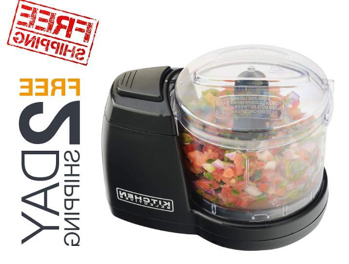 compact electric mini food processor kitchen chopper