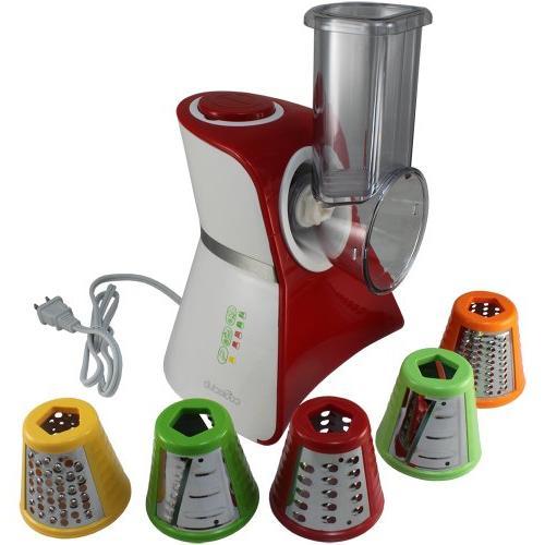 Cooks Club USA VC02RD Salad Maker Food Processor, Mini, Red