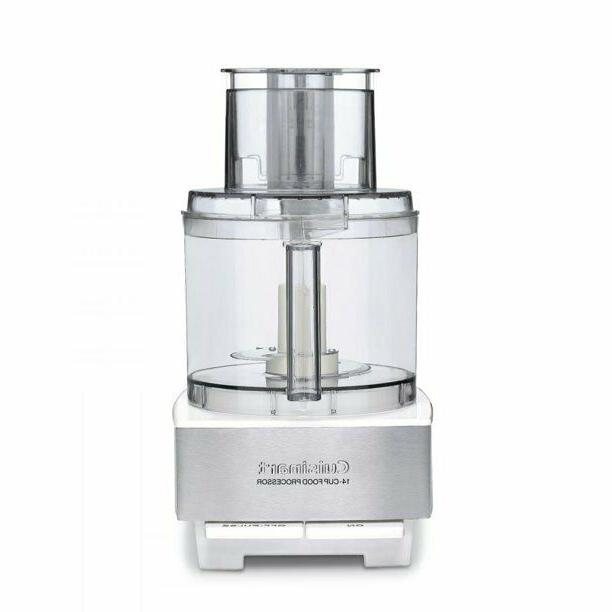 custom 14 cup food processor white stainless