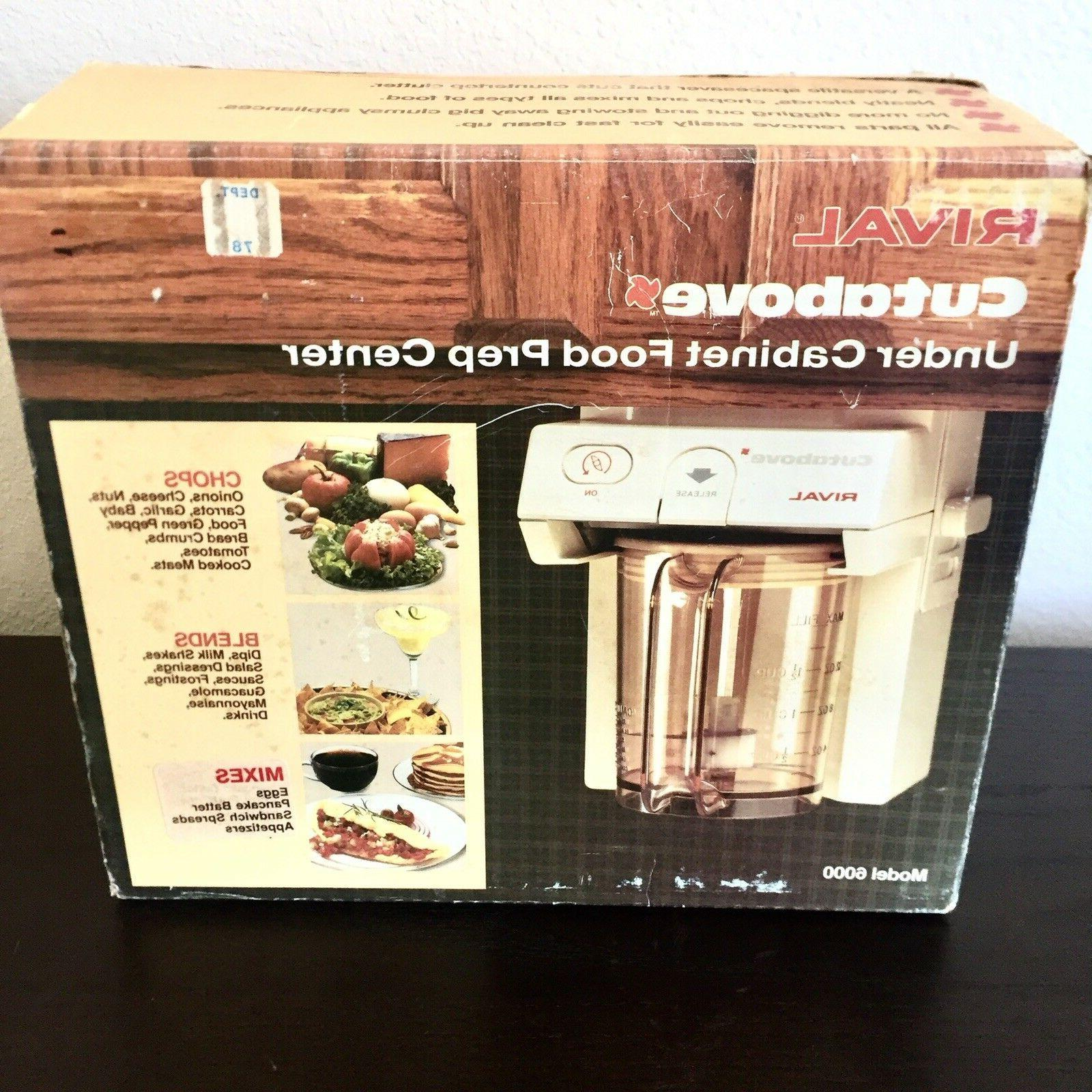 Rival Cutabove Under Food Center Chopper NIB RV