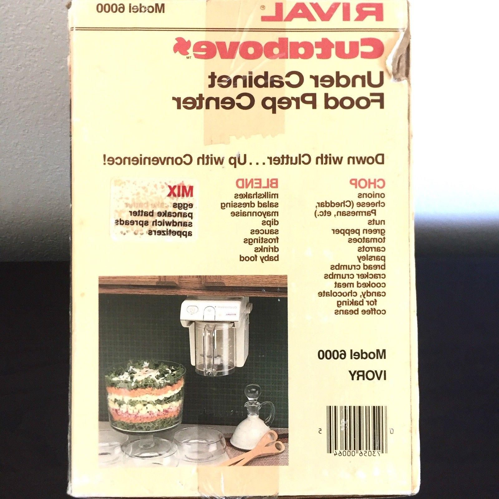 Rival Under Food 6000 Chopper Processor NIB RV