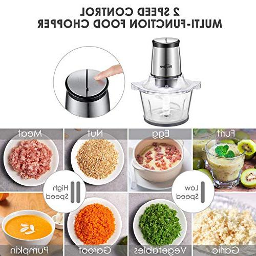 Food Cup Electric Meat 2 Blades, for and Nuts,