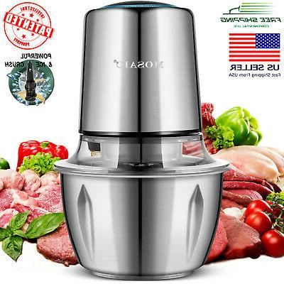 electric food processor chopper meat grinder stainless