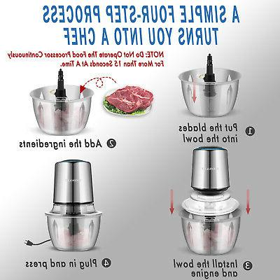 Electric MOSAIC, Chopper, Meat Stainless Steel