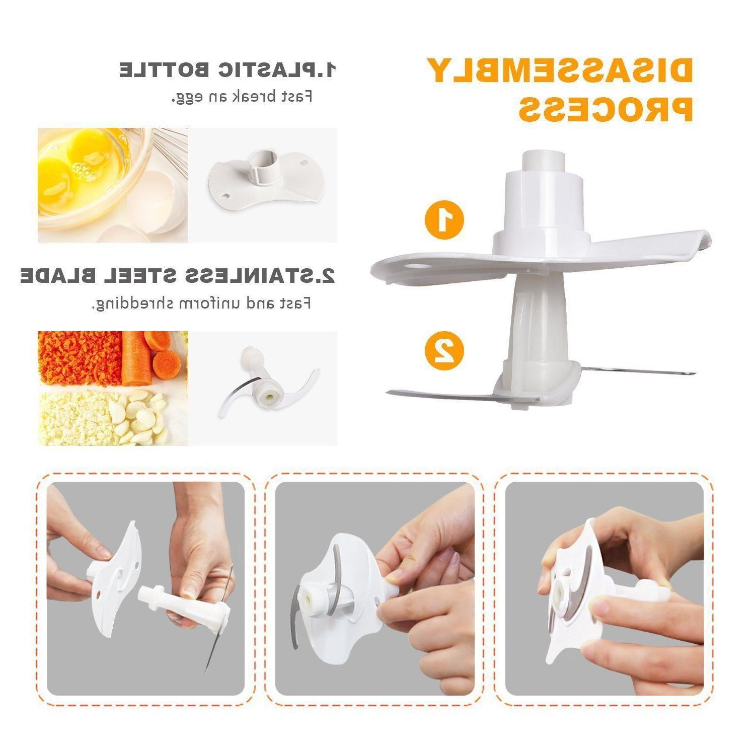 POSAME Chopper One-Touch Glass Processor