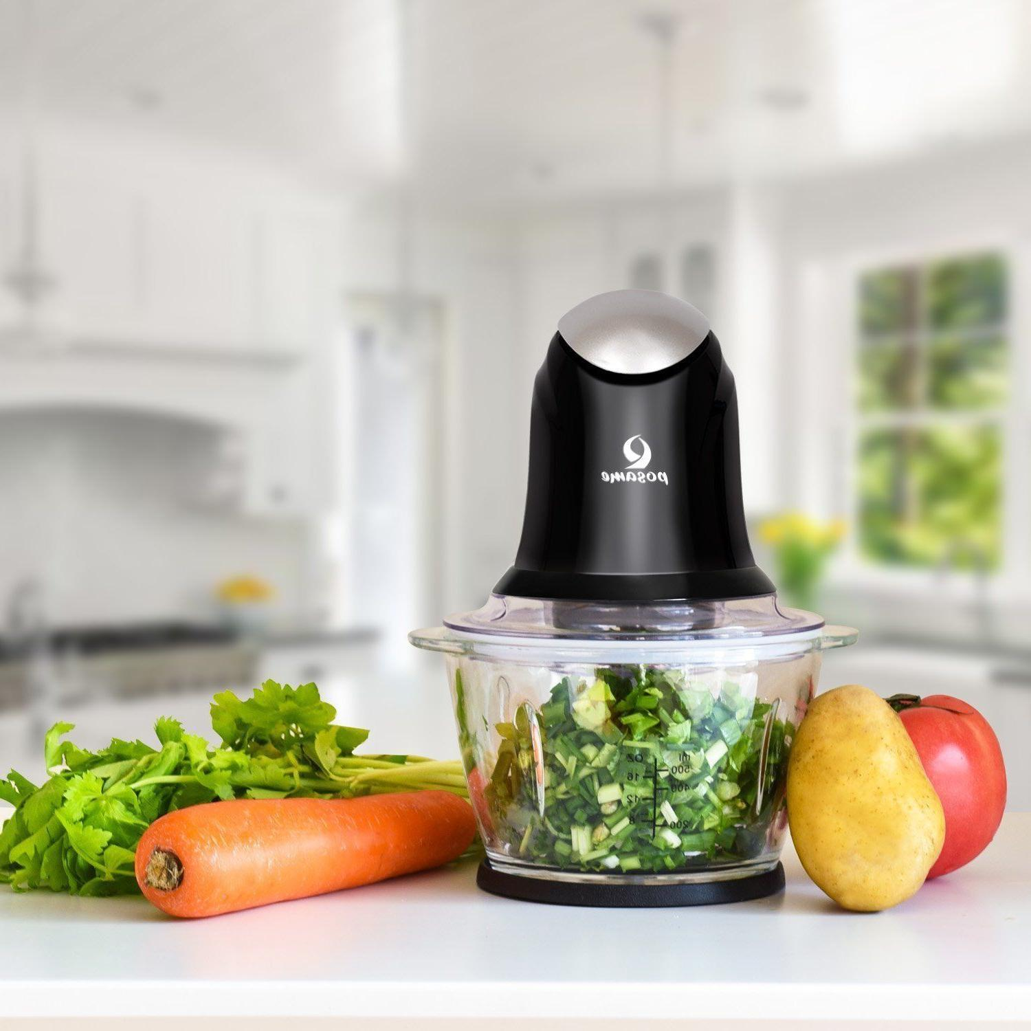 POSAME One-Touch Glass Bowl Processor