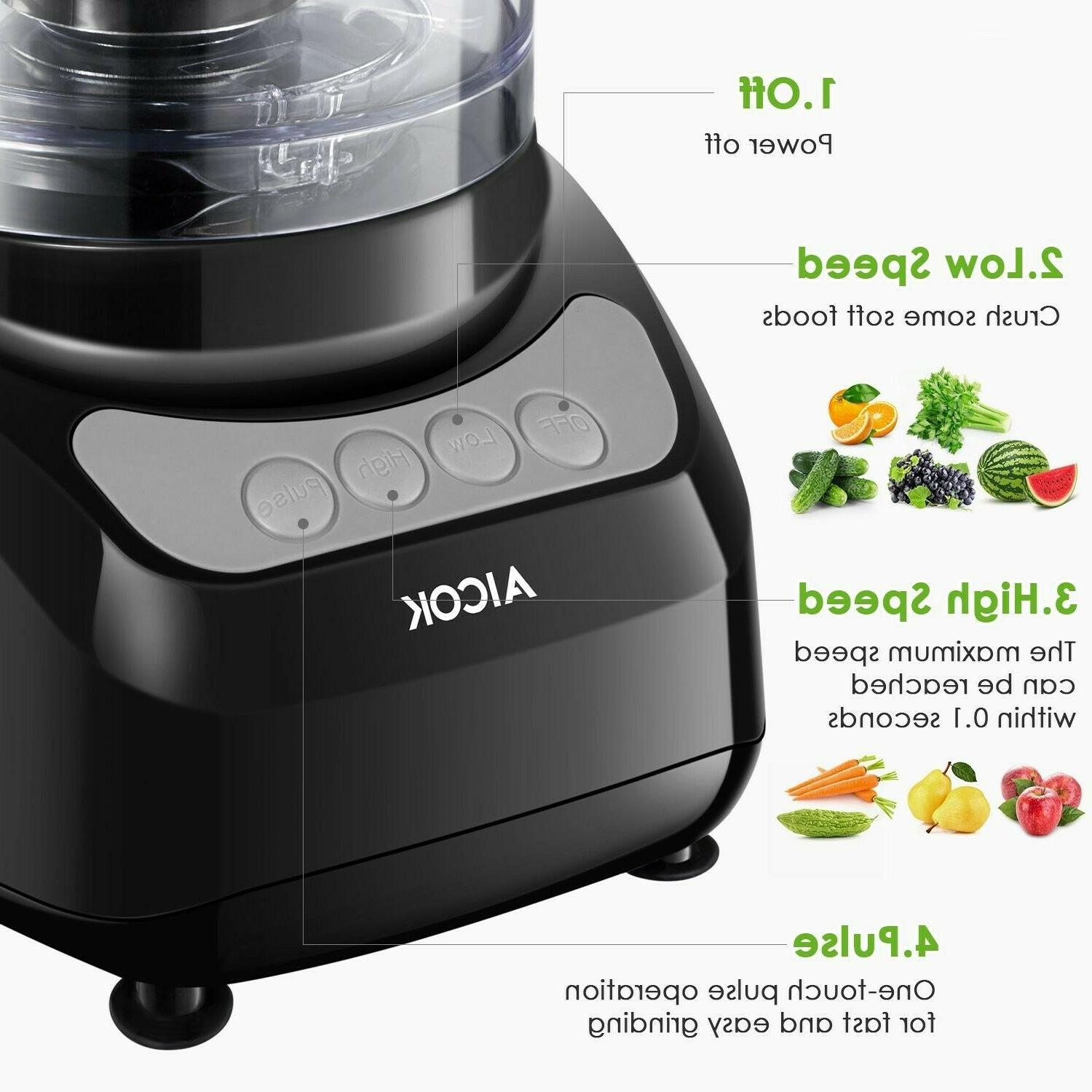 Food Processor 12-Cup, Multifunction 3 Speed