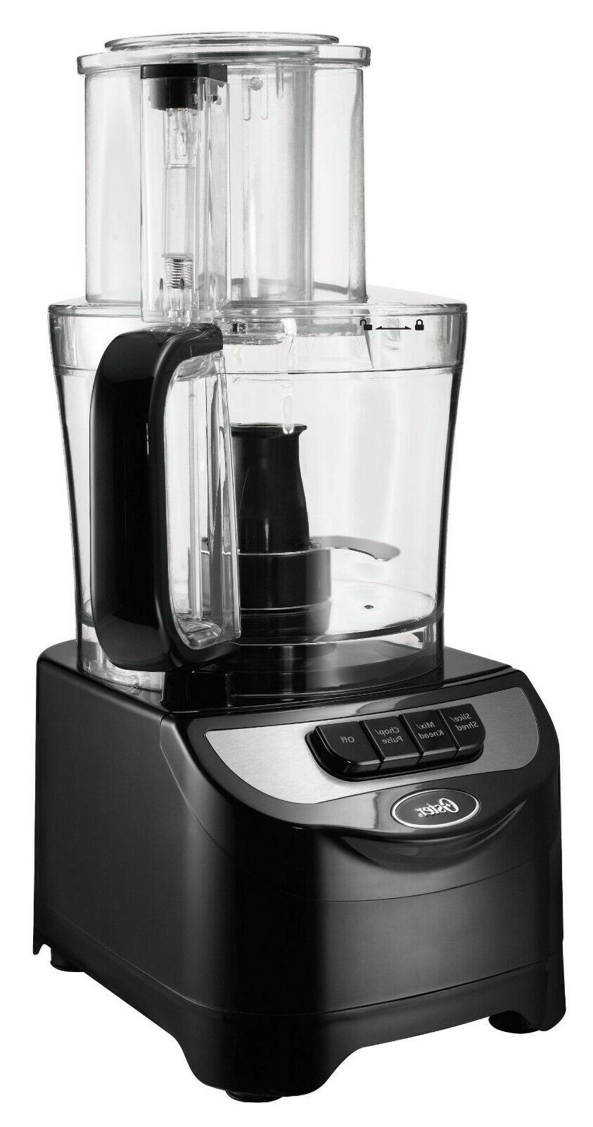Oster 2-Speed Food Processor 10-Cup Capacity 500W Wide-mouth