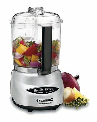 food processor 4 cup brushed stainless steel