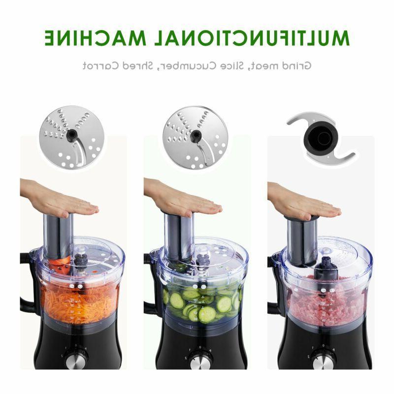 AICOK Food Processor 8-Cup Exact Slice Meat Chop..