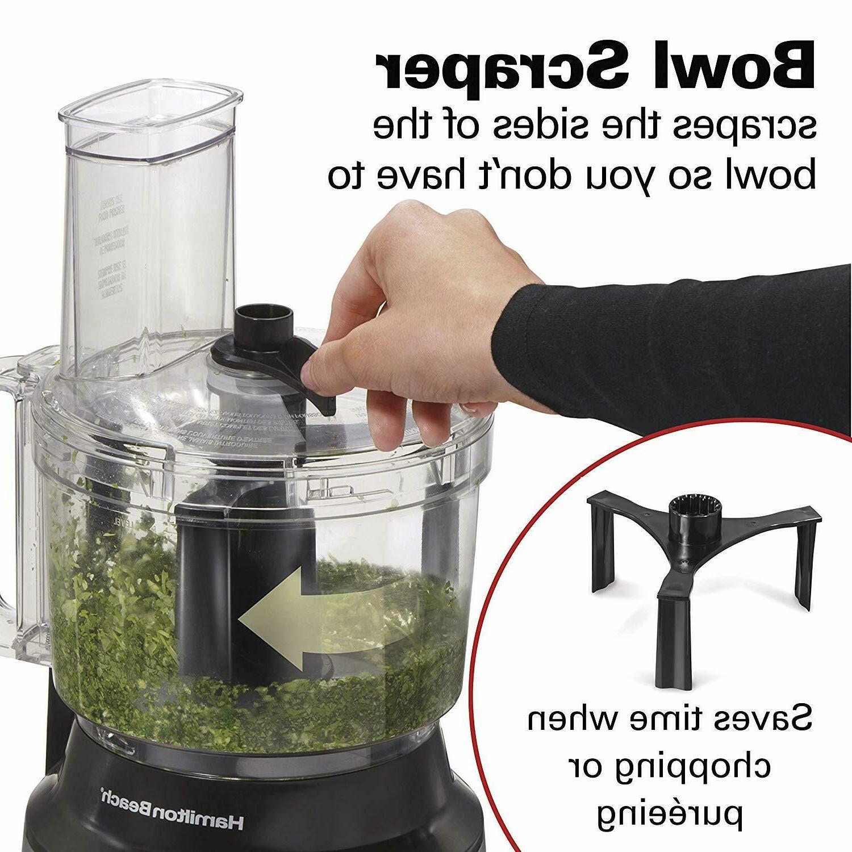 10-Cup Food Vegetable Chopper Scraper, Steel
