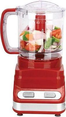 3 Cup Food Processor in Red