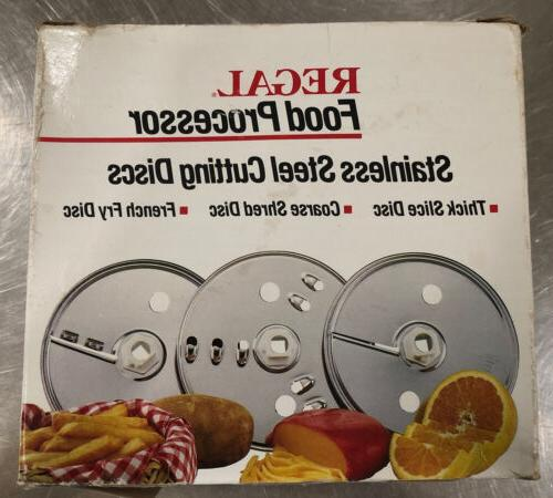 food processor stainless steel cutting discs 3
