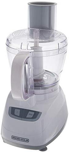 Black & Decker FP1700W Food Processor, 8 Cup, White, 220 Vol