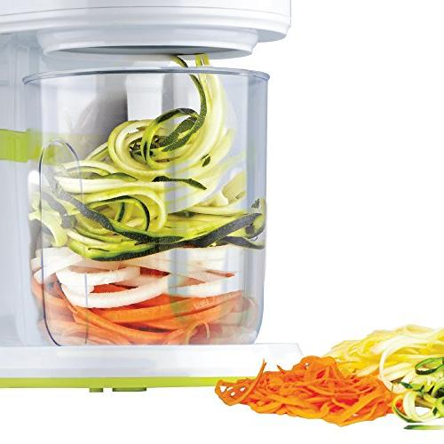 BRENTWOOD FP-560G Spiralizer, Small, Green
