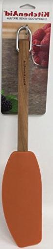 KitchenAid Gourmet Cherrywood Mixer Spatula, Pureed Pumpkin